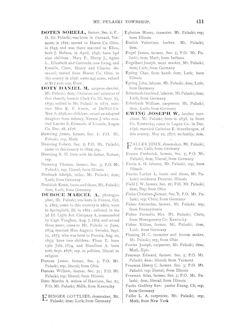 County Directory for Genealogy